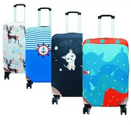 Wholesale Trolley Case Accessories - Women's Travel Trunk Drawbars Suitcase Luggage Protective Cover Ladies Trolley Case Dust Covers Accessories Elasticity Box Sets