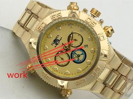Wholesale Large Diameter - Swiss famous brand INVICTA LOGO rotating dial outdoor Large dial 52 mm diameter sports men watch Luxury brand watch All functions can work