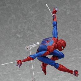 Wholesale Spiderman Models Kids - Spider-Man Figma Action figure Movable action figures model gift for kids decoration model toys for children