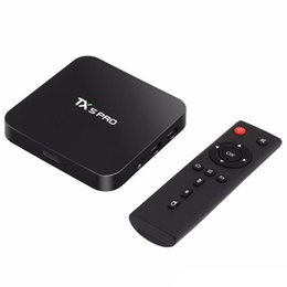 Wholesale Android 5g - TX5 PRO 2GB 16GB Amlogic S905X Quad Core 2.4 5G Dual WiFi Bluetooth Android 6.0 BT4.0 Smart Android Tv Box 0803132
