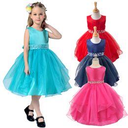 2019 свободные платья для детей Дети театрализованное бальные платья для девочек дети вечернее платье со стразами большие девушки свадебные платья бесплатная доставка на складе скидка свободные платья для детей