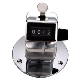 Wholesale Mechanical Click Counter - Wholesale- EWS Round Base 4 Digit Manual Hand Tally Mechanical Palm Click Counter