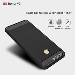 Wholesale Case V9 - For Huawei V9 V 9 Soft Silicone TPU Anti Knock Carbon Fiber Slim Case For Huawei Honor 8 Pro 8Pro Cover Coque Funda