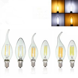 Wholesale Led 6w Cree Dimmable Candle - led lights Edison Filament Dimmable Led Candle Lamp 2W 4W 6W E14 E12Bulbs Light High Bright led lamp
