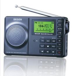 Wholesale Degen Dsp Radio - Wholesale-original DEGEN DE1129 radio FM Stereo SW DSP ATS 4GB Digital Recorder receiver Portable Multifunctional LED Radio freeshipping