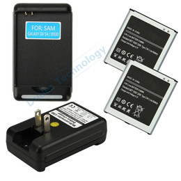 Wholesale S4 Docks - 2 x New 2600mAh 3.8V Li-ion Internal Battery Replacement +Dock Charger for Galaxy S4 i9500 i9505