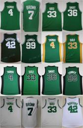 Wholesale Cheap Browning Shirts - 2017 Basketball Jerseys 4 Isaiah Thomas 7 Jaylen Brown 42 Al Horford 36 Marcus Smart 99 Jae Crowder 33 Larry Bird Basketball Shirts Cheap