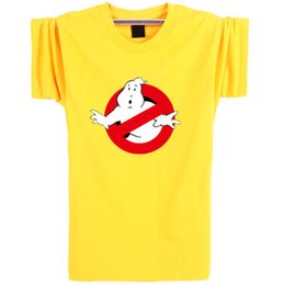 Wholesale Ghost Busters - Ghostbusters T shirt Ghost busters short sleeve Yellow Film casual tees Leisure clothing Unisex elastic cotton Tshirt