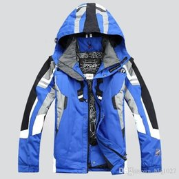 Wholesale Men S Christmas Clothes - Hot sale New Men ski suit outdoor sportwear ski jacket windproof waterproof skiing clothing Free Shipping