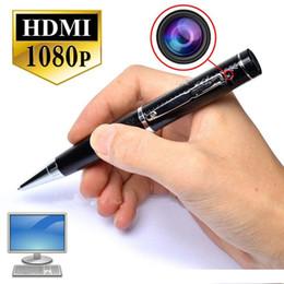 Wholesale dvr hdmi output - HD 5.0MP mini pen camcorder 1080P PEN mini DV DVR T1 Pen Pinhole camera with HDMI output +motion detection