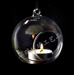 Wholesale Wholesale Crystal Candle Holder - Globe Planter Vase Romantic Home Furnishing Glass Candle Holder High Quality Hanging Tealight Holders Crystal Candlestick Hot Sale 3 1qr3