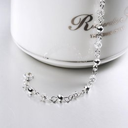 Wholesale Fishing Strings - 925 String Silver Bracelets Top Quality Jewelry Womens S925 Silver Bracelet Bangle Hallow Out Chain Romantic Luxury Jewellery Accessories