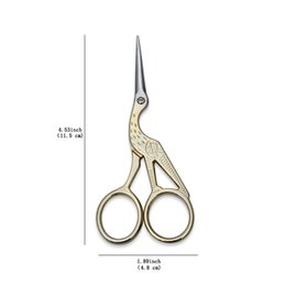 Wholesale Cross Stitch Wholesalers - Vintage Stork Shape Sewing Scissors Trimming Dressmaking Shears Cross-stitch Carbon Steel Tailor Scissors for Sewing Embroidery Fabric