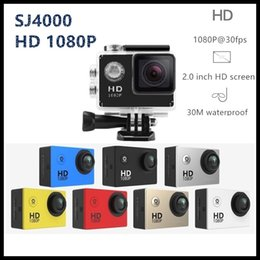 Wholesale Cmos Full Hd - HD Full 1080P Action camera SJ4000 Style 2.0 Inch LCD Screen Movement Waterproof Camera Vehicle Traveling Data Recorder