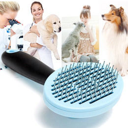 Wholesale Dog Brush Grooming Trimmer - Dog Grooming Pet Hair Remover Dog Cat Hair Combs Blue Pink Pets Brush Pet Grooming Tools Good Trimmer Dog Accessories