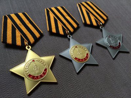 Wholesale German War - Commercial edition of the Soviet Medal of Honor 1 2 3 a set of World War II German medal Stalin Lenin Russia
