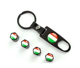 Wholesale Dust Caps For Cars - Car accessories Car Wheel Tire Valve Caps & Logo Keychain Dust Stems Air Caps Cover for ALFA Mito 147 156 159 166Car-Styling
