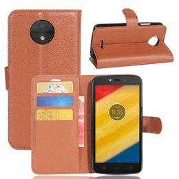 Wholesale Silicone Wallet Pouch For Phone - Flip Wallet Leather Pouch Case Litchi For Moto C PLUS E4 ZTE Nubia N1 Lite MAX XL N9560 Z986 Stand TPU Leechee ID Card Phone Skin Cover 1PCS