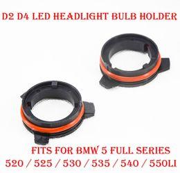 Aggiornamento della lampadina online-2 PZ D2 D4 D2S / R / C D4S / R / C Upgrade LED Kit faro Portalampada Supporto adattatore Fermo di ritegno per BMW 5 Serie 520 525 530 535 540 550Li