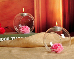 Пейзаж держателя онлайн-Творческий стеклянный подсвечник микро-пейзаж экологическая ВАЗа европейский утолщенной прозрачный термостойкое стекло подсвечник w 8 см 10 см 12 см