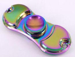 Wholesale Rainbow Choice - Novelty Gag Gyro Toys EDC Hand Spinner Fidget Toy Rainbow Colorful Good Choice Gift For Decompression Anxiety Finger Spinner Toys