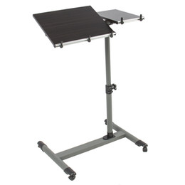 Wholesale Rolling Laptop Table With Tilting Tabletop Overbed Desk TV Food Tray Hospital PC