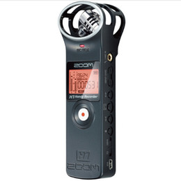 Wholesale Zoom Handheld Digital Recorder - Wholesale-Original new version ZOOM H1 protable Handheld Digital Voice Recorder Stereo recording microphone for Interview SLR record mic