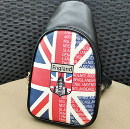 Wholesale Boys Union Jack - The Union Jack day pack Flag chest bag Light weight single shoulder backpack Nylon one sling rucksack Outdoor sport package