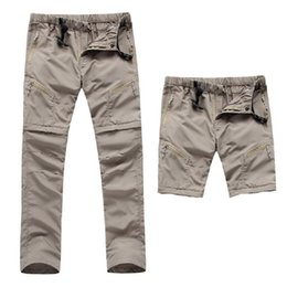 Wholesale Sports Tex - 2017 New Men's Quick Dry Removable Hiking Pants Outdoor Sport Summer Breathable Thousers Camping Trekking Fishing Shorts Hot Sale