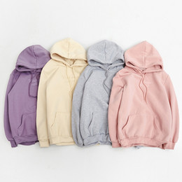 Wholesale Korean Cute Hoodie - Wholesale- hoodies women autumn 2017 winter korean style cute hoodie women kawaii clothes embroidery letters pink harajuku sweatshirt women