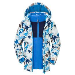 Wholesale Autum Girl - Wholesale- Warm Ski Jacket Boys Girls 3 in 1 Children Clothing Winter Autum Spring Waterproof Windproof Skiing Snowboard Kids Jacket