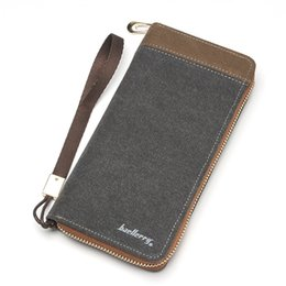 Wholesale Nice Cell Phones - Wholesale- Nice Canvas wallet long casual fashion style men wallets women clutch money bag unisex purse quality guarantee free shipping