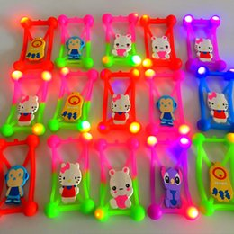 Wholesale Iphone Rubber Cartoon Cases - DHL LED Light Universal Phone Cases 3D Cartoon Silicone Protective Soft Rubber Frame For iPhone 7 6s Samsung LG