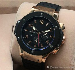 Wholesale Automatic Watch Big Case - Rose gold case big bang date drop ship brand New Fashion automatic Mechanical Wristwatches men watch Luxury Stainless steel Men's Watches