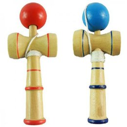 Wholesale Toy Wholesale Kendama - Wholesale-Multi-Function Kid Kendama Coordinate Ball Japanese Traditional Wood Game Balance Skill Toy Educational Toy