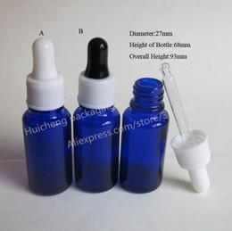 Wholesale 15ml Plastic Bottles Blue - 200 x 15ml Cobalt Blue Glass Dropper Bottle,1 2oz Glass Essential Oil Bottle With Plastic Dropper,Dropper Container