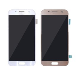 Wholesale Original Touch Screen Digitizer - For Samsung Galaxy S7 SM-G930A SM-G9300 Display Touch Screen Grade A+++ Original LCD Digitizer Assembly Replacement Repair free shipping