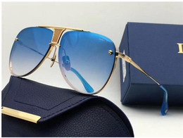 Wholesale Blue Fine - DECADE TWO limited edition luxury pilots fine metal new designers classic fashion lady brand sunglasses original packaging UV400