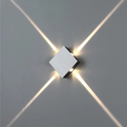 Wholesale Square Led Light Bars - Modern Cross-shaped Star Wall Light Square Round 3W 6W 9W 12W Aluminum LED Wall Lamps Night Light for Bedside Corridor Aisle Bar Lights