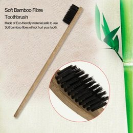 Wholesale Toothbrush Wholesale China - Personalized Bamboo Toothbrushes Tongue Cleaner Denture Teeth Travel Kit Tooth Brush MADE IN CHINA 200 PCS YYA184
