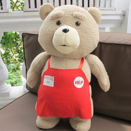 Wholesale Ted Movie Apron - Teddy 2016 Hot Sale Movie Teddy Bear Ted 2 Plush Toys In Apron 46CM Soft Stuffed Animals & Plush Children Gift (Size: 46 cm, Color: Multico