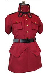 Jupe cosplay rouge en Ligne-Hellsing Seras Victoria Costume Rouge Jupe Costume Cosplay