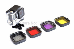 Wholesale Square Filter Case - Camera Photo Camera Filters Free shipping + tracking number 4PCS Lens Filter Diving Filter Gopro HERO 3+ 4 Camera Housing Case Underwater