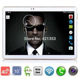Wholesale Google Android 256mb Ram - Wholesale- 2017 Newest Android 6.0 OS 10 inch 4G LTE Tablet Octa Core Tablet 10.1 Google Play Store 4GB RAM 32GB ROM Dual Cameras tablet 10