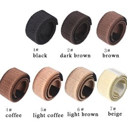 Wholesale Hair Clip Hairstyle - Multi Color Hair Donut Bun Make Hair Styling Disk Former Foam Hairstyle Clip DIY Tool for Women