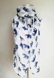 Wholesale Bali Yarn Shawls - Wholesale- New Fashion Women Elegant Retro Bali Yarn Scarf Long Print Elephant Scarf Autumn Winter Scarves For Women Shawl