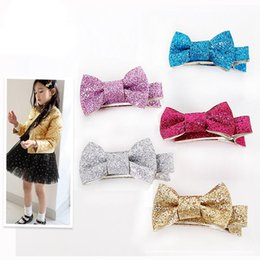 Wholesale Sweets Hair - Everweekend Baby Girls Candy Sequins Bows Hair Clips Hairpins Princess Sweet Kids Multi Color Fashion Hair Accessories