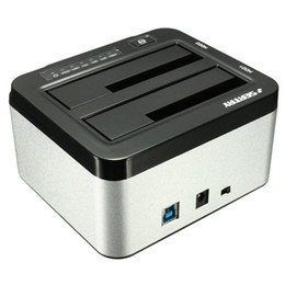 "Caja del carrito de disco en venta-Venta al por mayor - Marca SEATAY Universal 1pcs 2.5 ""3.5"" USB 3.0 Dual SATA HDD Carcasa Caddy Case Hard Drive Disco HDD Dock Docking Station"