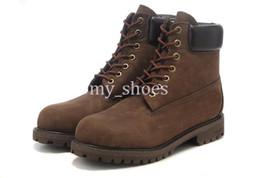 abdichtung nubuck stiefel Rabatt Brand New Authentic Männer 6-Zoll-Premium Boots Wasserdicht im Freien 10061 Stiefel Größe 36-46 Dark Chocolate Nubuk