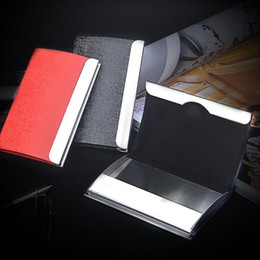 Leather wholesale business card boxes canada best selling leather business name card holder credit card holder big capacity fashion unisex visit card case metal wallet leather solid steel box reheart Gallery